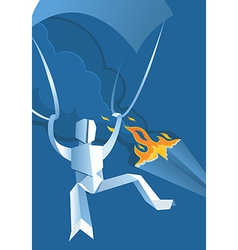 Paper parachute jumper vector