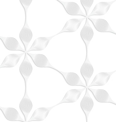 Paper white six pedal flowers vector