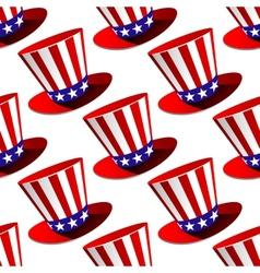 Patriotic american top hat seamless pattern vector