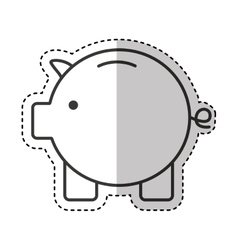 Piggy savings money icon vector