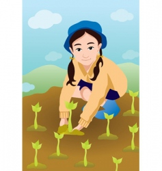 plant a tree vector image