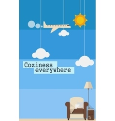 Poster about comfortable travel vector