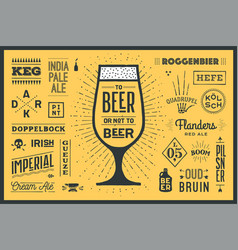 Poster to beer or not to beer vector