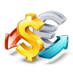rate of exchange vector image