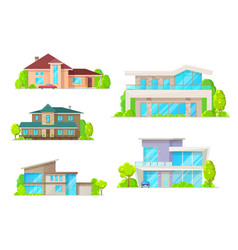 real estate houses and cottage buildings vector image