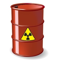 Red barrel vector image