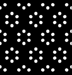 Repeatable polkadot pattern with structure of vector