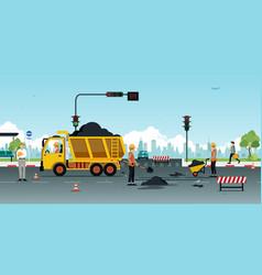 Road surface repair vector