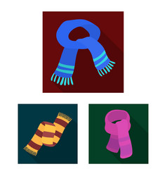 Scarf and shawl flat icons in set collection for vector