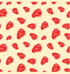 Seamless pattern with meat vector