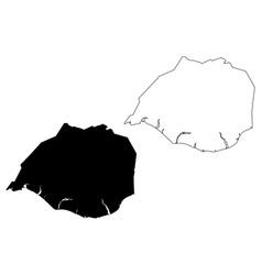 Southern region iceland island regions iceland vector