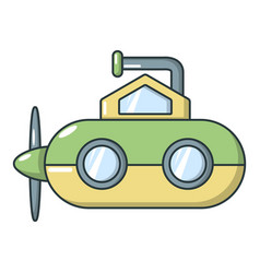 Submarine periscope icon cartoon style vector
