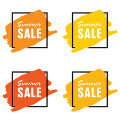Summer sale icon set vector