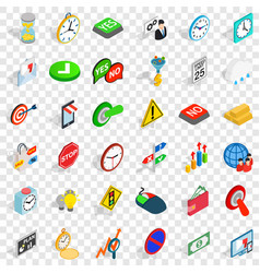 Switch off icons set isometric style vector