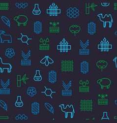 Symbols of fabric feature seamless pattern vector