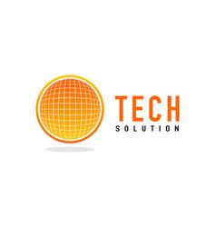 tech solution logo vector image