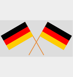 The crossed germany flags vector