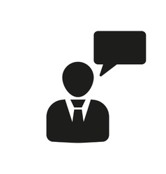 The speaking people icon Talking and vector image