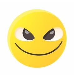 Threatening emoticon icon cartoon style vector image