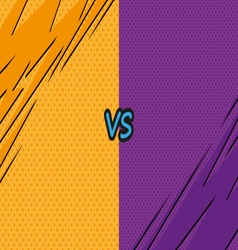 Versus letters fight backgrounds comics style vector