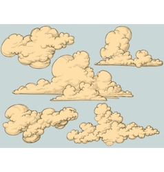 Vintage clouds vector