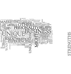 What make us unique and different text word cloud vector
