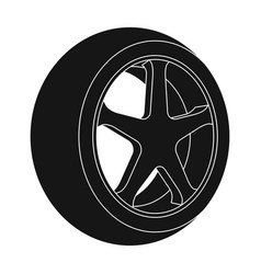 Wheel with a tire cover for the carcar single vector