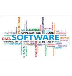 Word cloud software vector