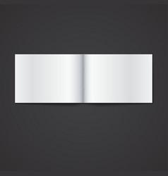 Blank opened magazine template vector image