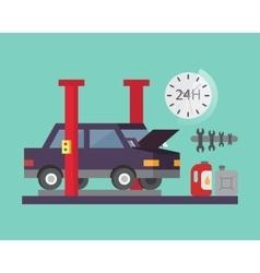 Car service Auto diagnostics and transport repair vector image vector image