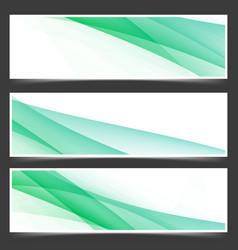 fresh abstract spring header flyer set vector image vector image
