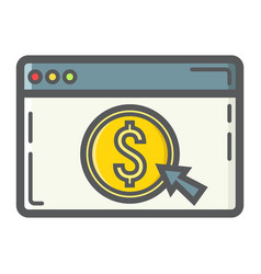 Online banking filled outline icon business vector