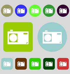 Photo camera sign icon Digital symbol 12 colored vector image vector image