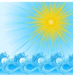 summer waves vector image