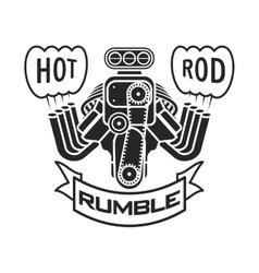 engine hot rod muscle car speedster logo t-shirt vector image