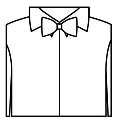 figure sticker shirt with bow tie icon vector image vector image
