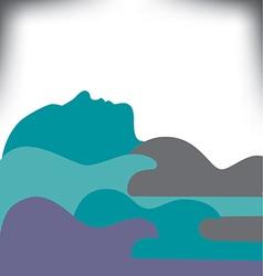 guitar landscape vector image vector image