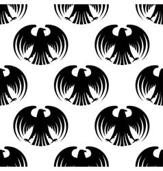 Heraldic seamless pattern of black eagles vector image vector image
