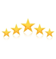 Set of Gold Stars Icon Five Stars Icon vector image