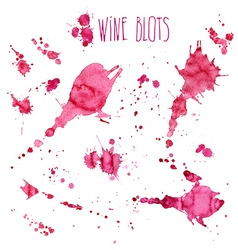 Wine splash and blots concept vector image vector image