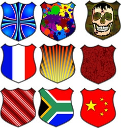 assorted shields vector image
