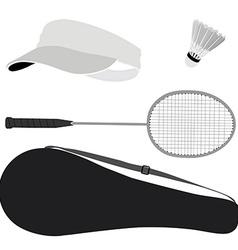 Badminton set vector image