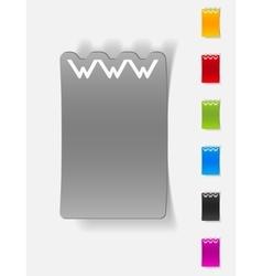 Realistic design element www vector