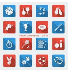 Set of Sport equipments of flat design vector image vector image
