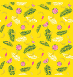 beautifil summer seamless pattern background with vector image