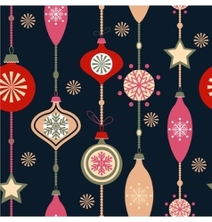 Christmas decorations on white vector
