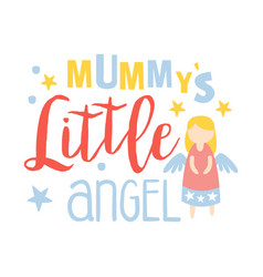 Little mummys angel colorful hand drawn vector