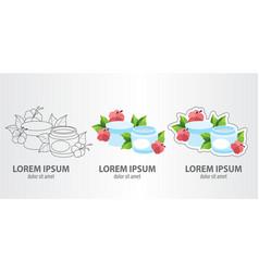 logo cosmetic cream contour logo stroke logo vector image vector image
