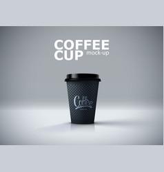 paper coffee cup mockup vector image vector image
