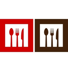 two restaurant signs vector image